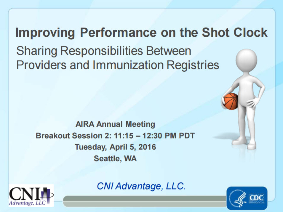 Improving Performance on the Shot Clock: Sharing Responsibilities Between Providers and IIS