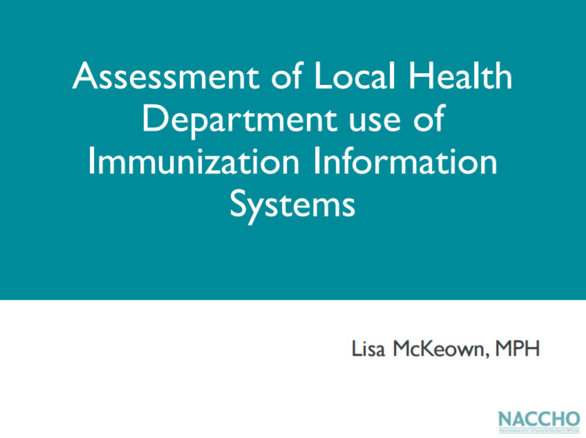 Local Health Department Use of Immunization Information Systems