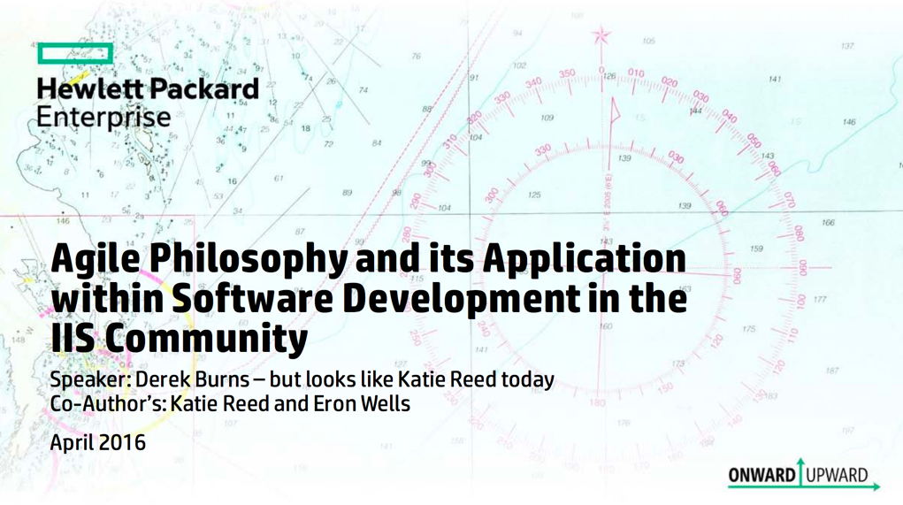 Agile Philosophy and Its Application Within Software Development in the IIS Community