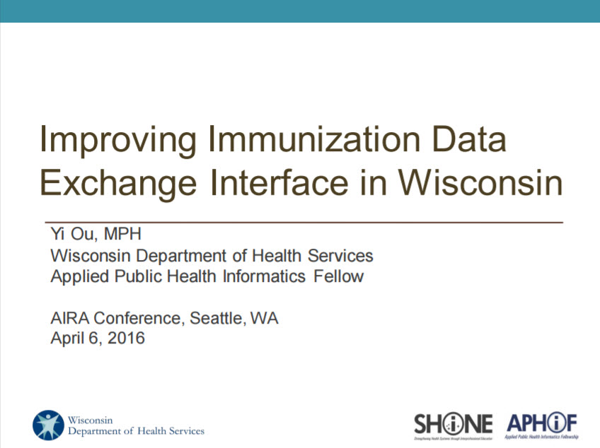 Improving Immunization Data Exchange Interface in Wisconsin