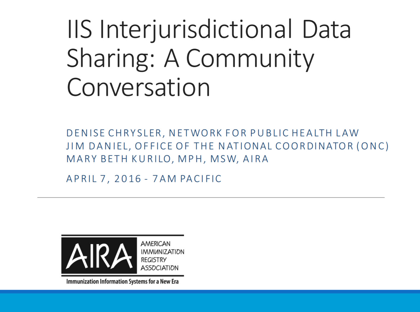 A Community Conversation about Interjurisdictional Exchange