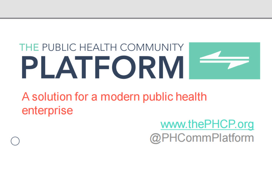 The Public Health Community Platform: A Community Resource for Shared Solutions
