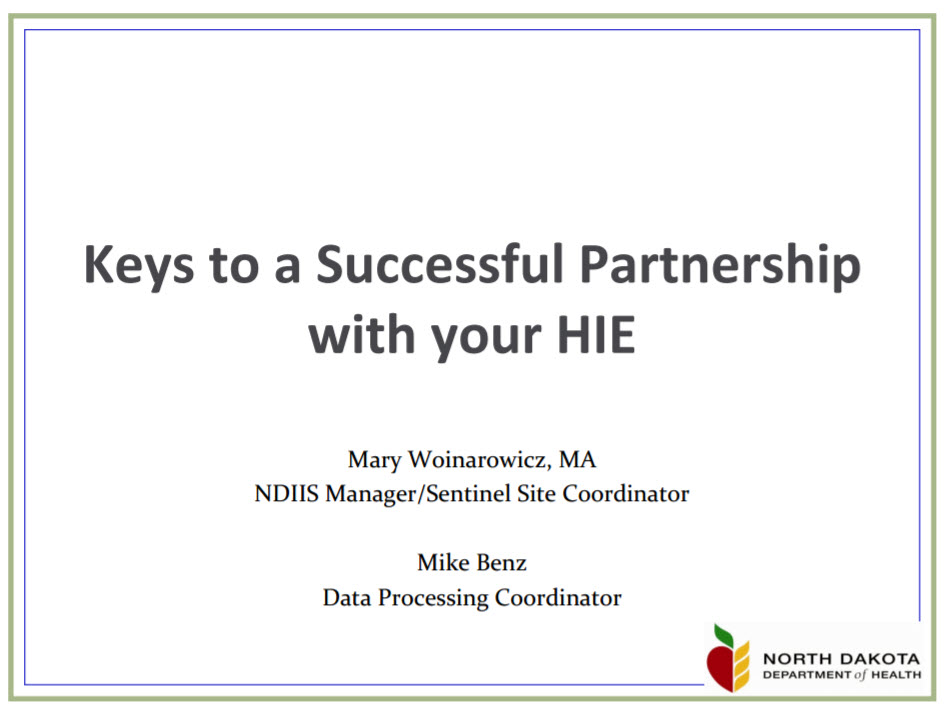 Keys to a Successful Partnership with your HIE