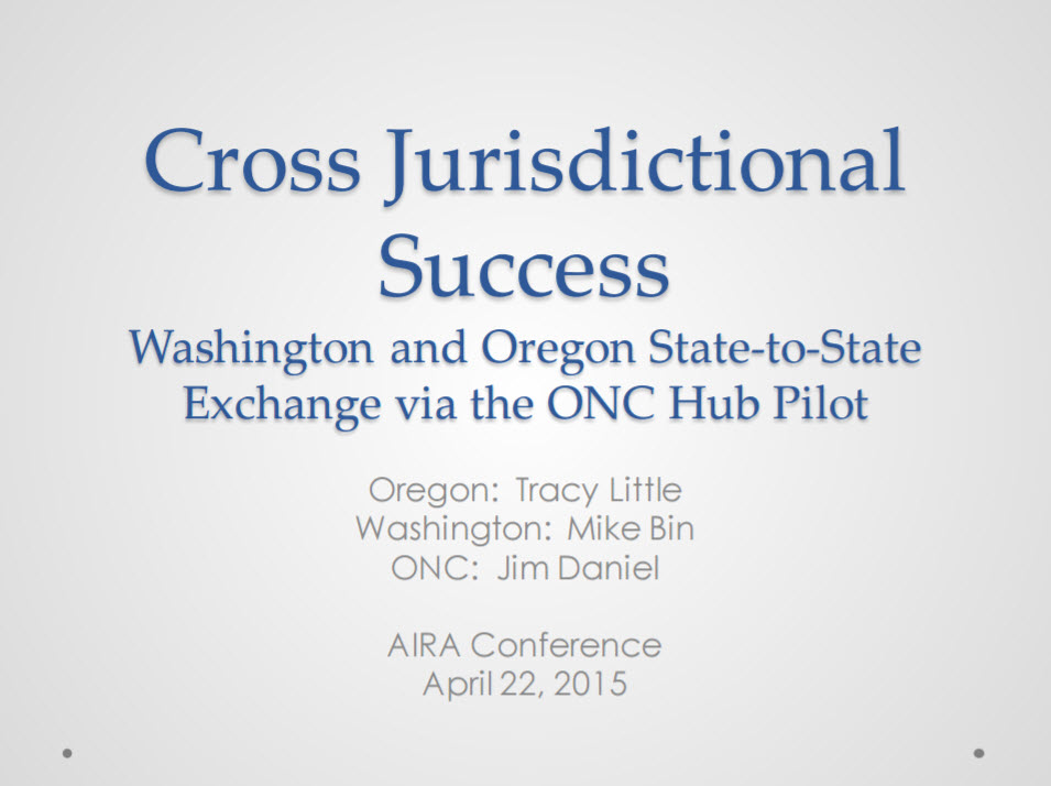 Cross-Jurisdictional Success: Washington and Oregon State-to-State Exchange via the ONC Hub Pilot
