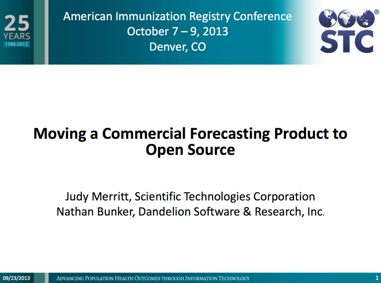 Moving a Commercial Forecasting Product to Open Source