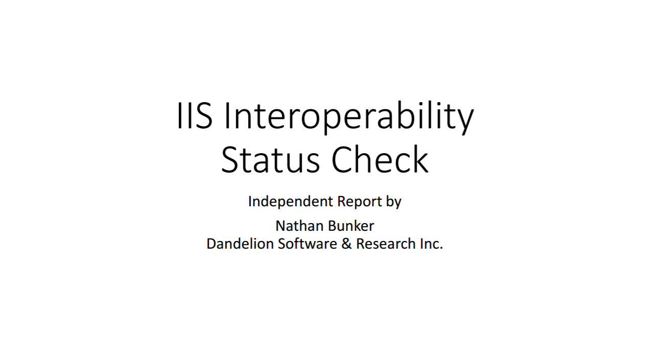 IIS Interoperability Status Check