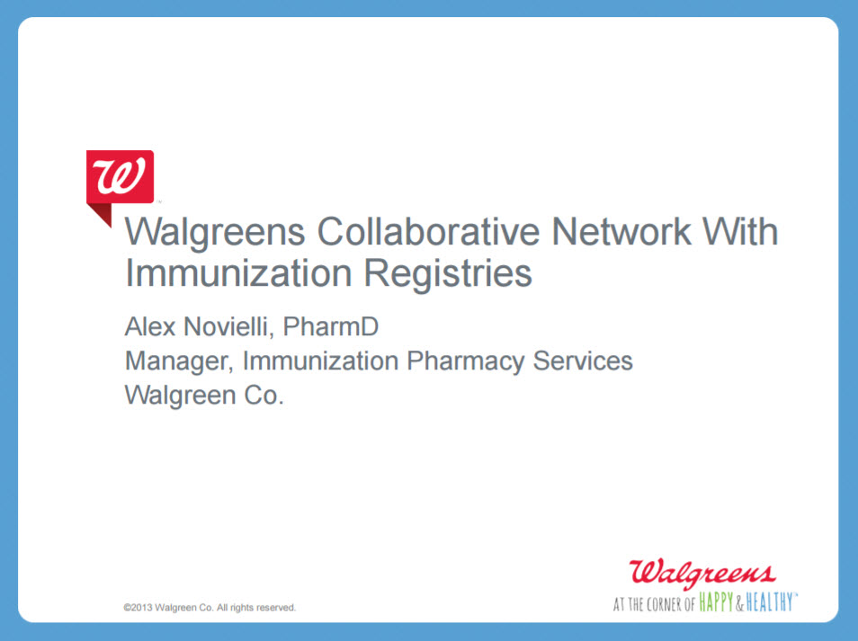 Walgreens is Collaborating with State & Regional Immunization Registries to Increase Immunization Rates in the U.S.