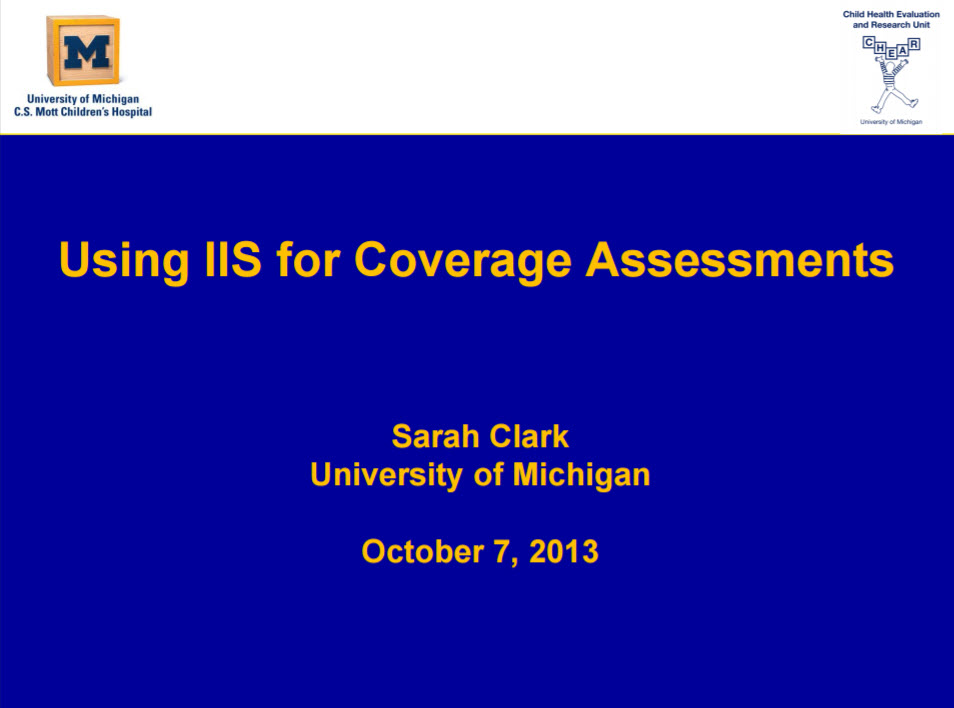 Using IIS for Coverage Assessments