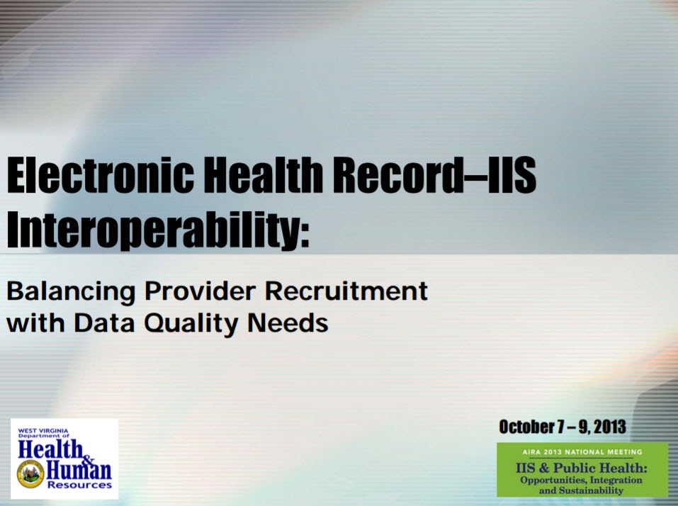 Electronic Medical Record – IIS Interoperability: Balancing Provider Recruitment with Data Quality Needs
