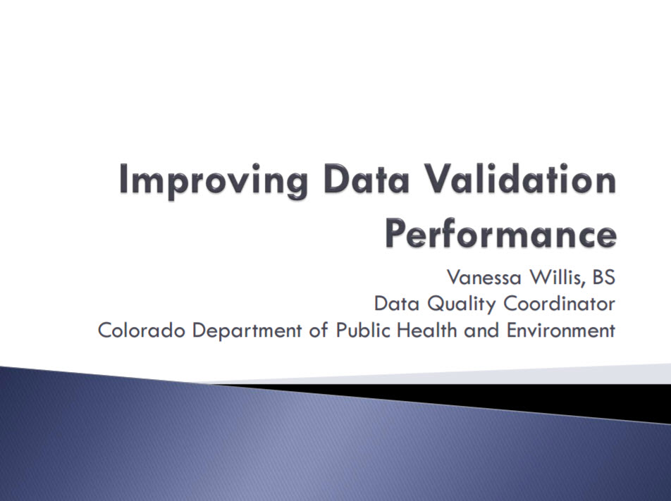 Improving Data Validation Performance