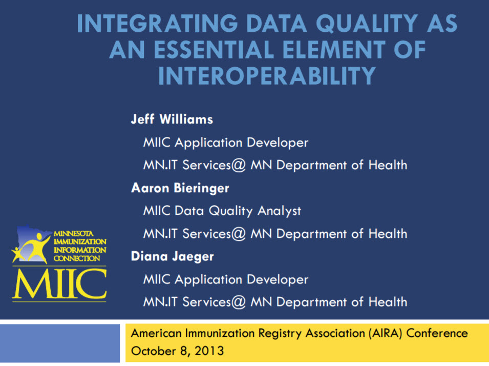 Integrating Data Quality as an Essential Element of Interoperability