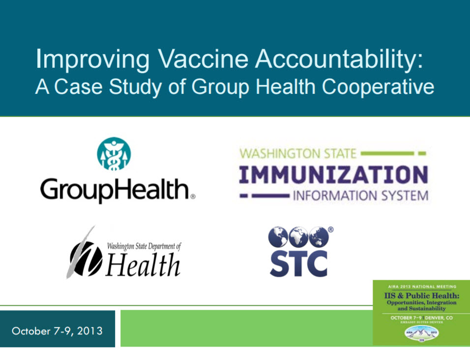 Improving Vaccine Accountability: A Case Study of Group Health Cooperative