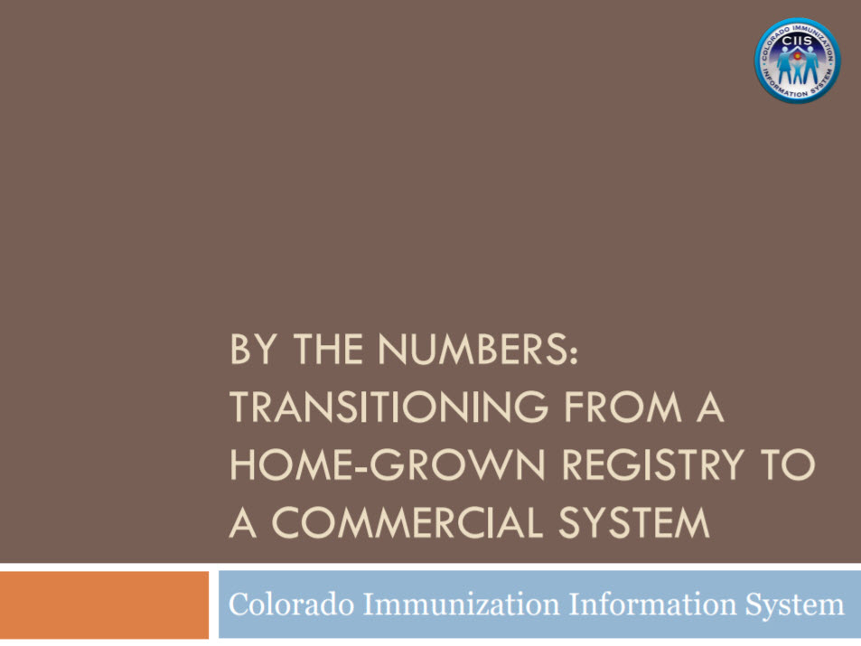 By the Numbers: Transitioning from a Home Grown Registry to a Commercial System