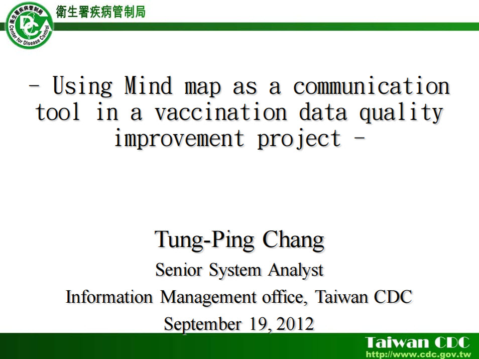Using Mind Map as a Communication Tool in a Vaccination Data Quality Improvement Project