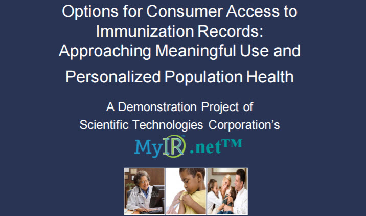 Options for Consumer Access to Immunization Records:  Approaching Meaningful Use and Personalized Population Health