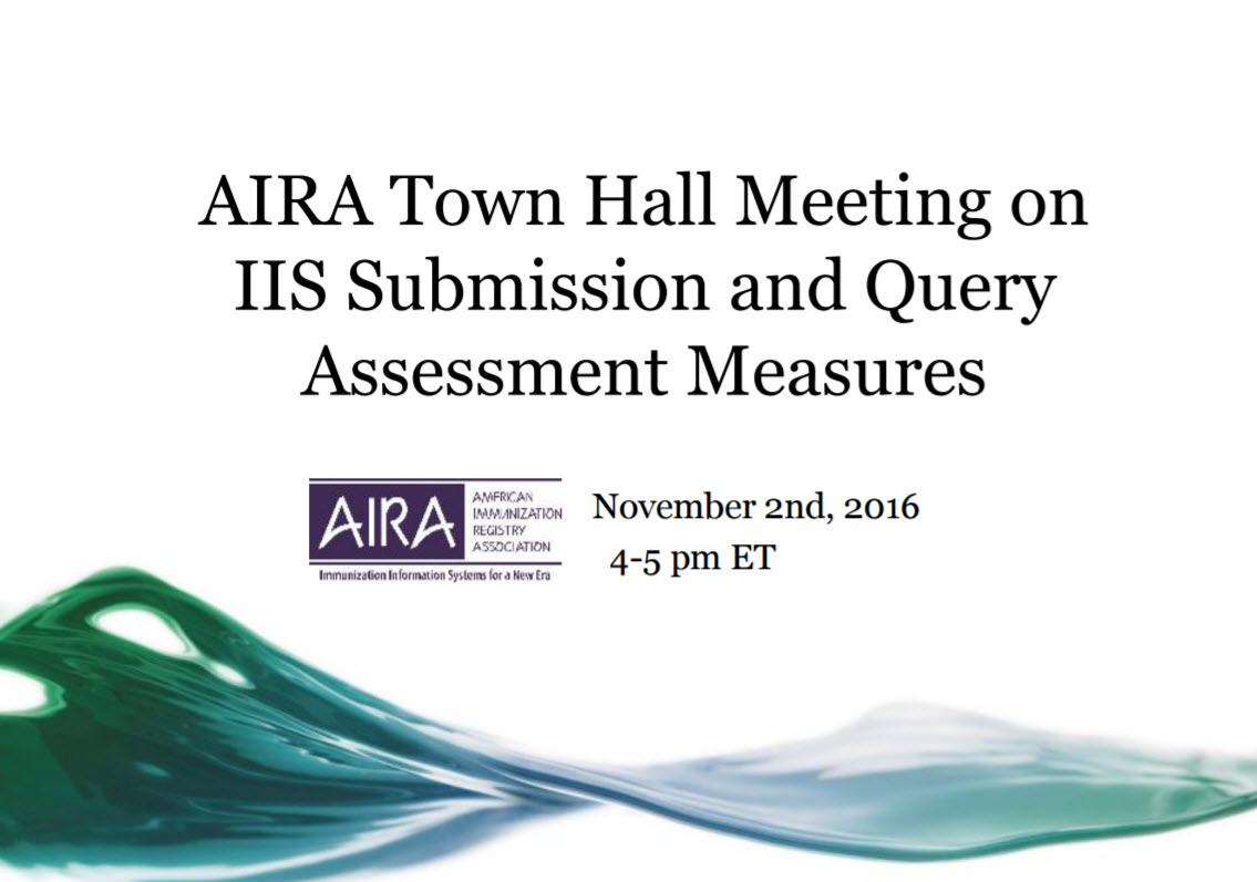Proposed IIS Submission and Query Assessment Measures