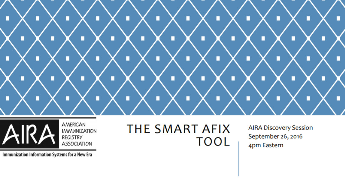 AIRA Discovery Session:  SMART AFIX Tool Demonstration