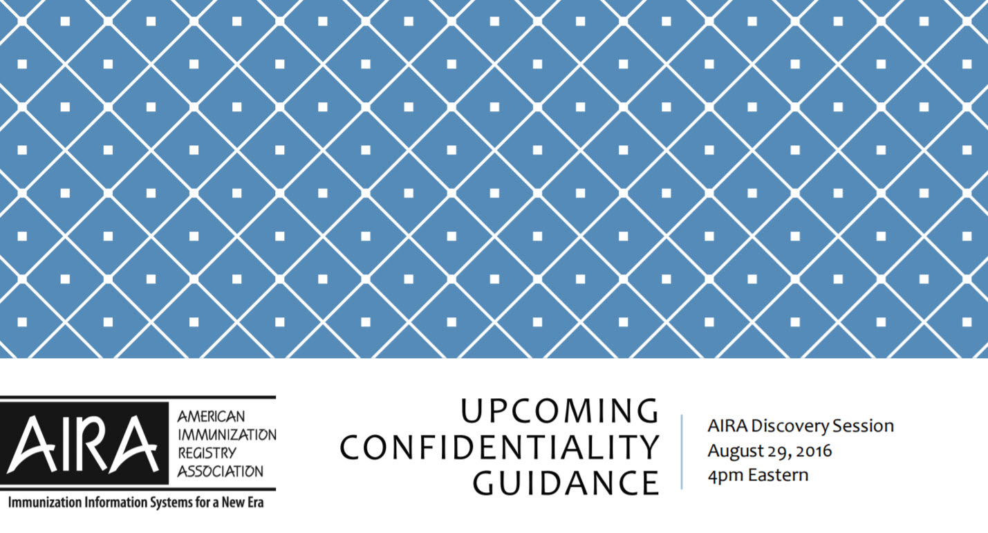 AIRA Discovery Session: Confidentiality Guidance