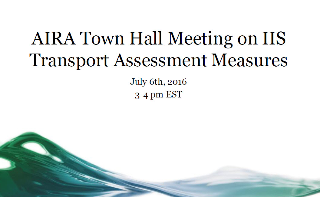 Proposed IIS Transport Assessment Measures