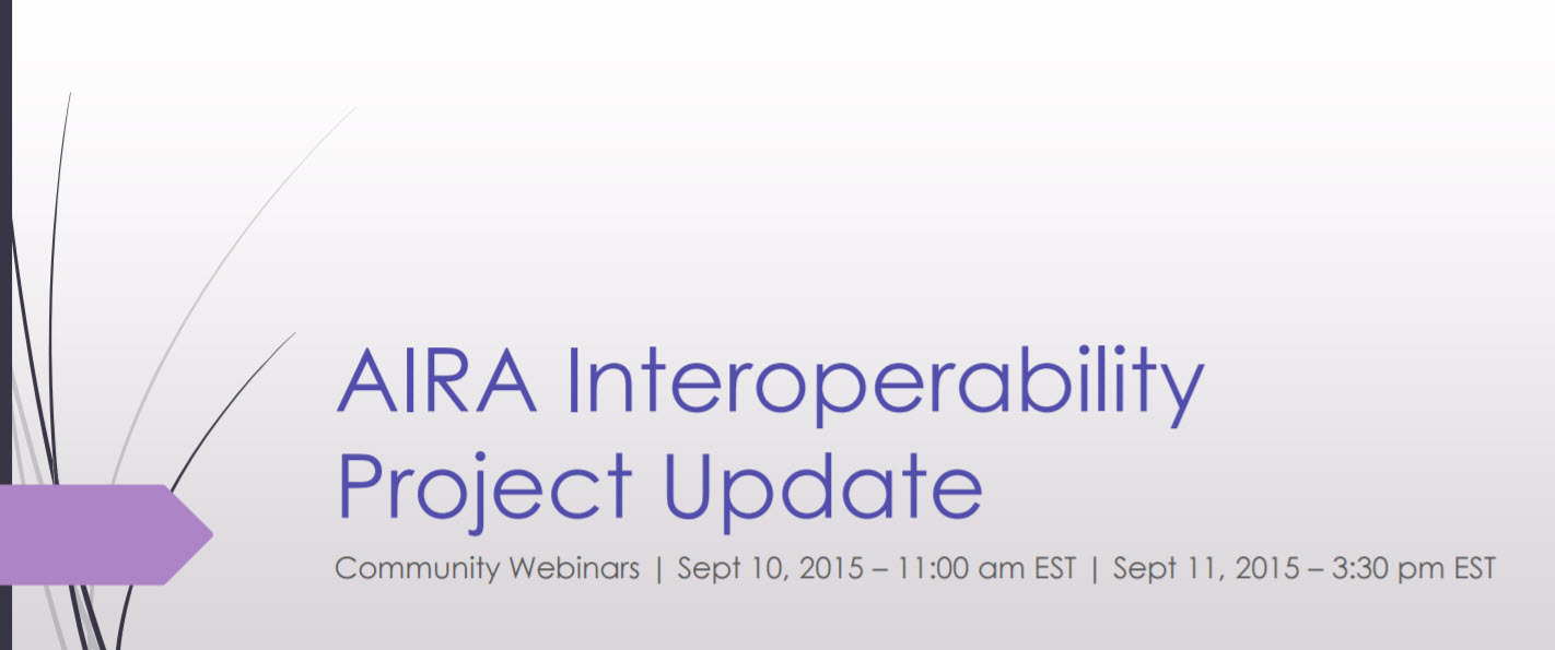AIRA Interoperability Testing Project Webinar