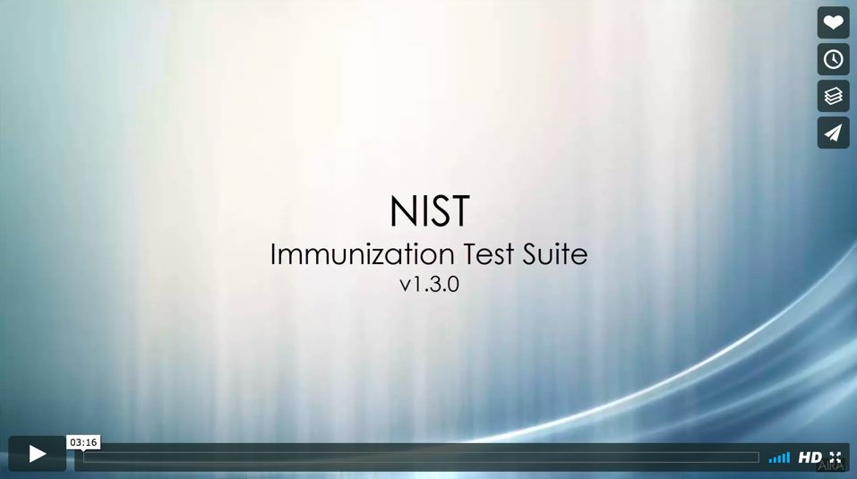 NIST Immunization Test Suite Demonstration