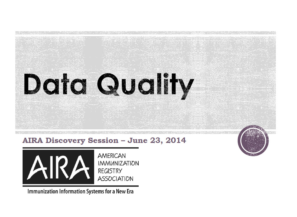 IIS Data Quality