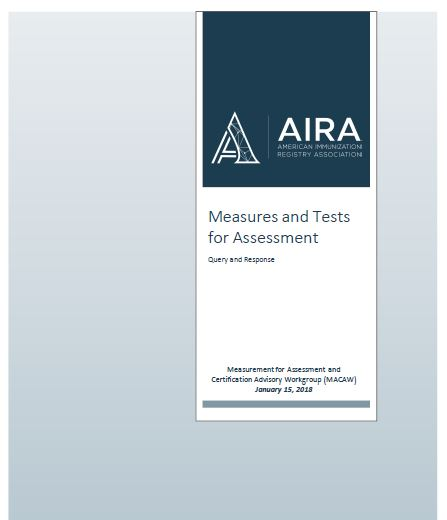 Measures and Tests for Assessment - Query and Response