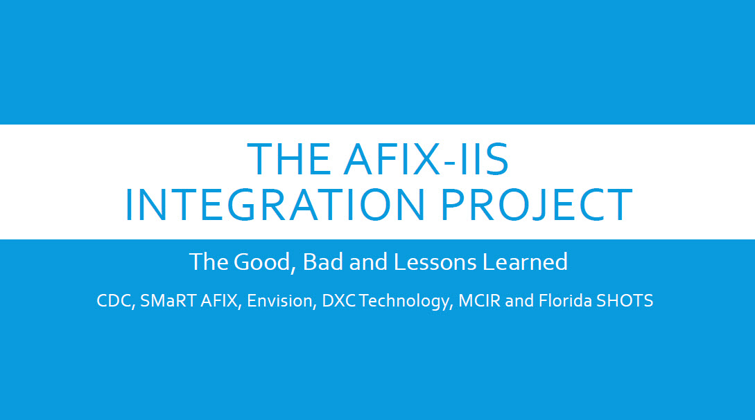 The AFIX-IIS Integration Project—The Good, the Bad and Lessons Learned