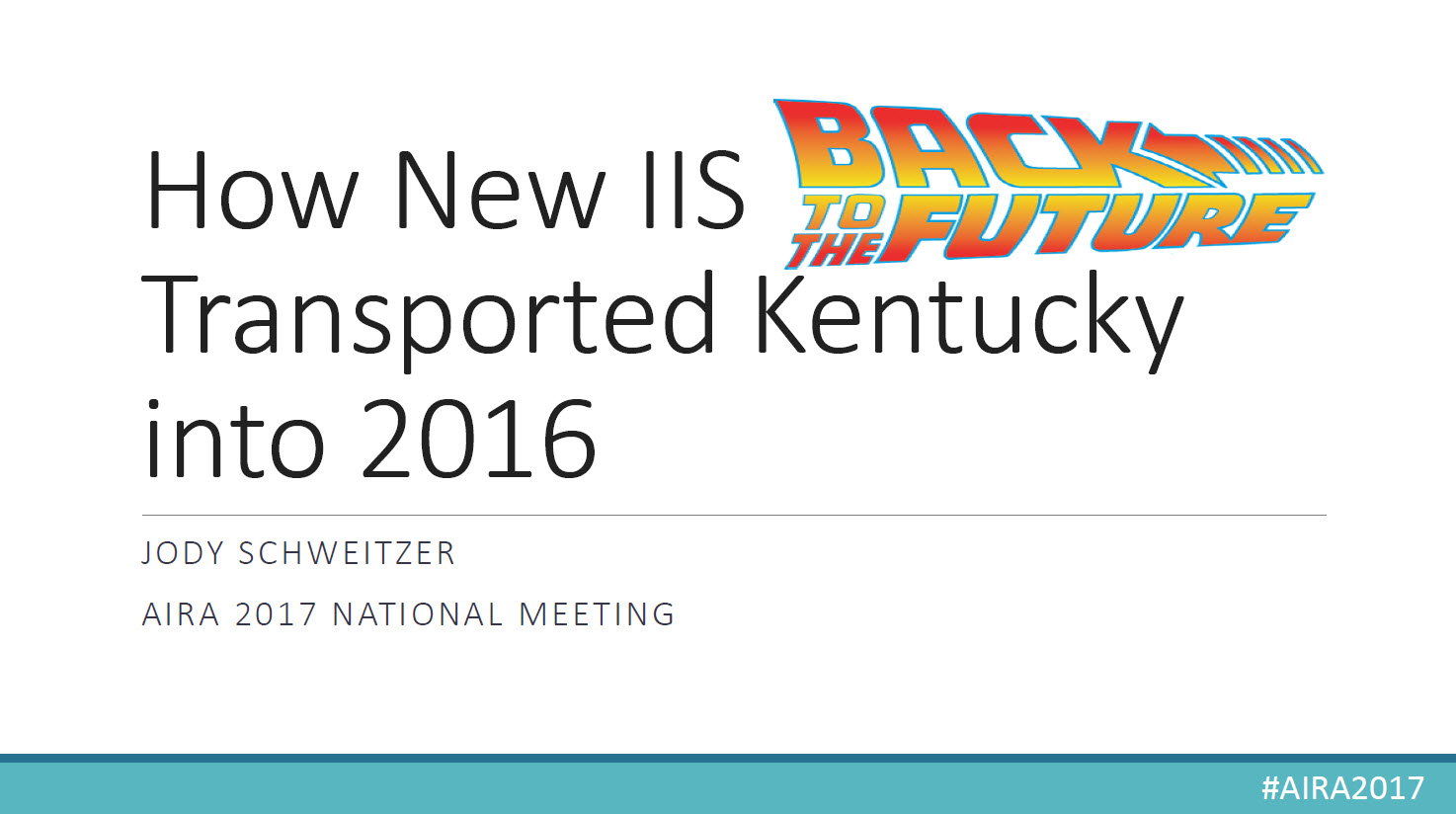 Back to the Future: How New IIS Transported Kentucky into 2016