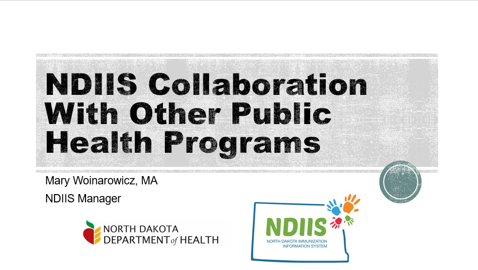 NDIIS Collaboration with Other Public Health Programs