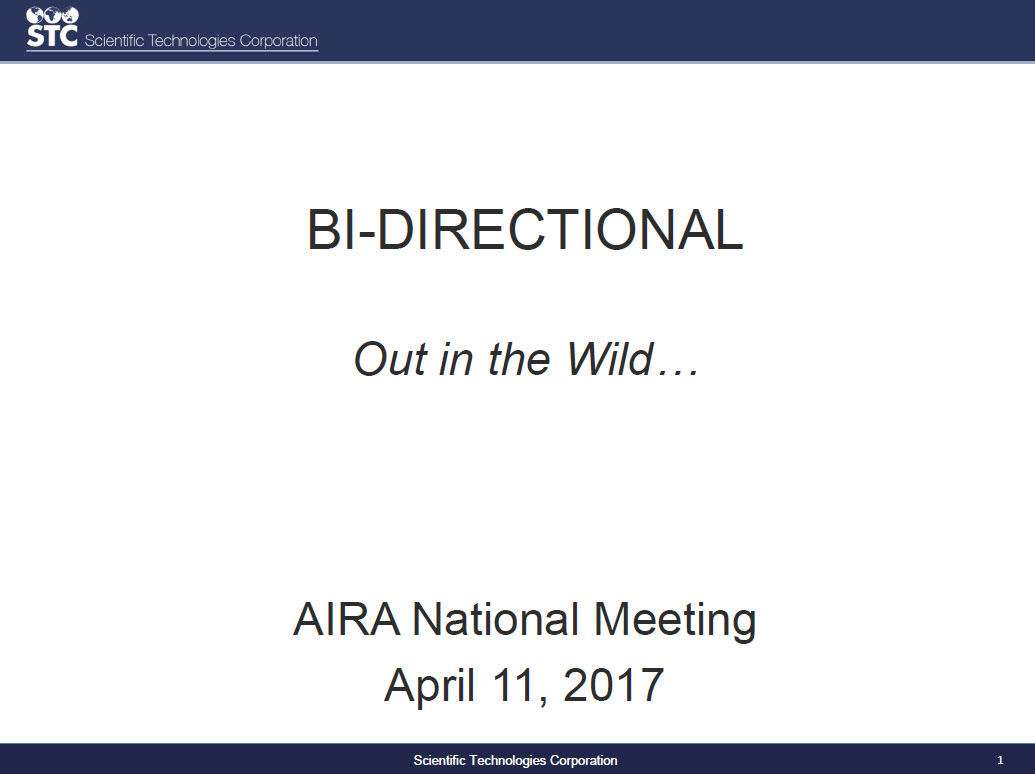 Out in the Wild – Practical Use of Bidirectional