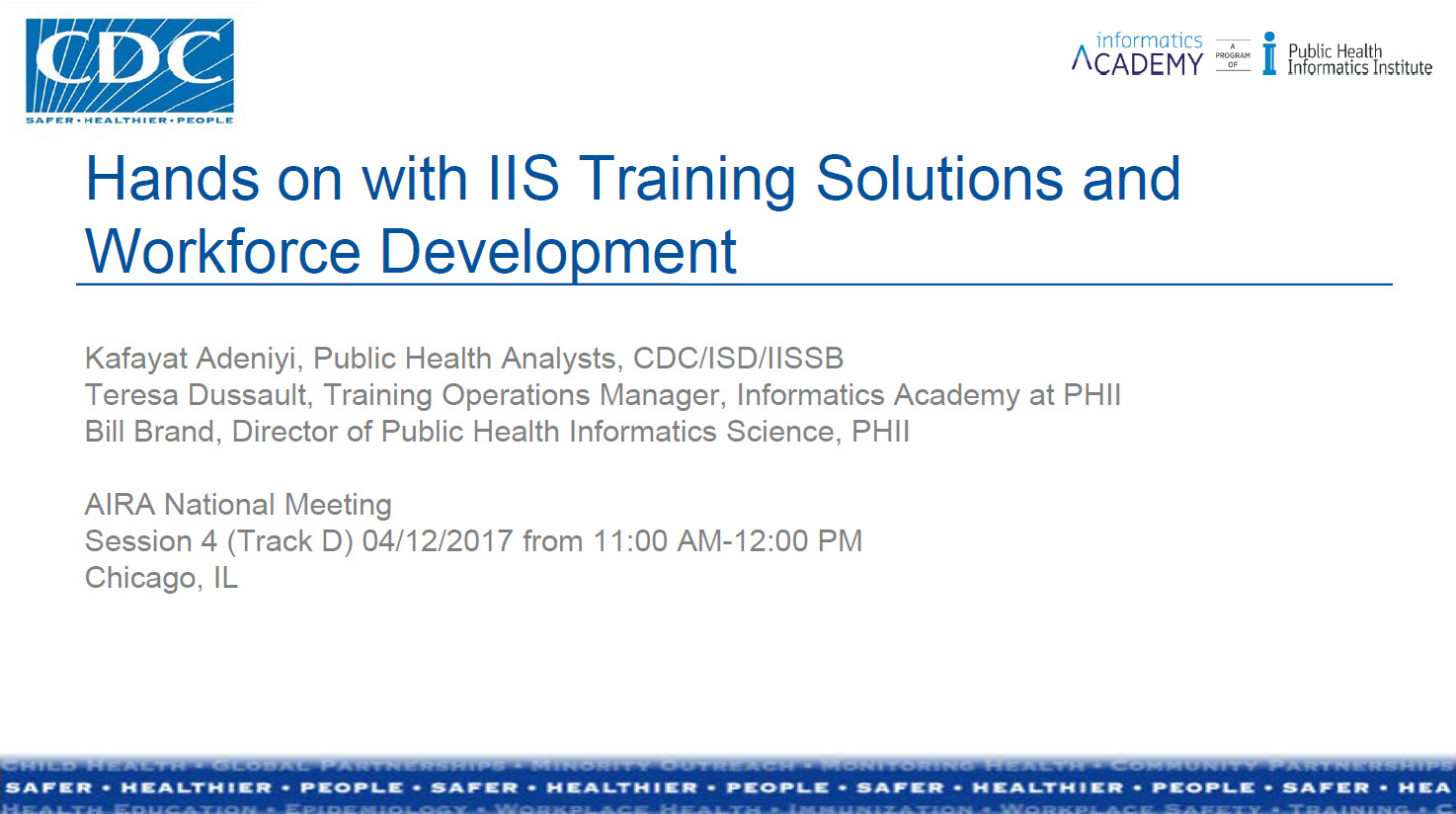 Hands-On with IIS Training Solutions & Workforce Development