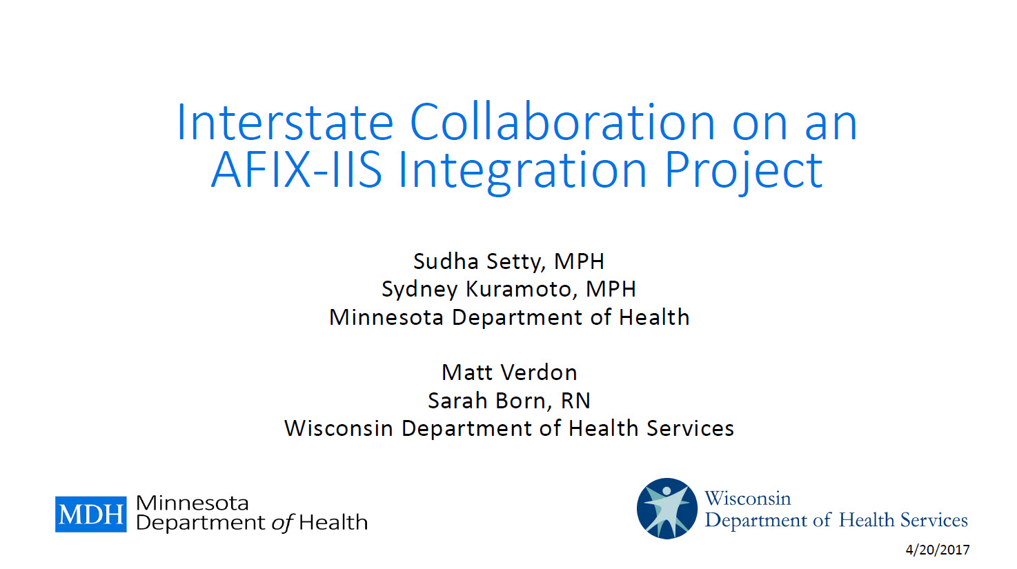 Interstate Collaboration on an AFIX-IIS Integration Project