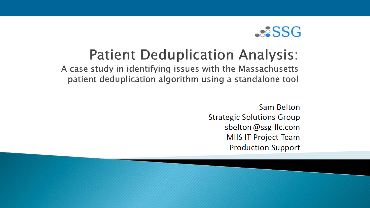 Patient Deduplication in Massachusetts: An Algorithm and a Tool
