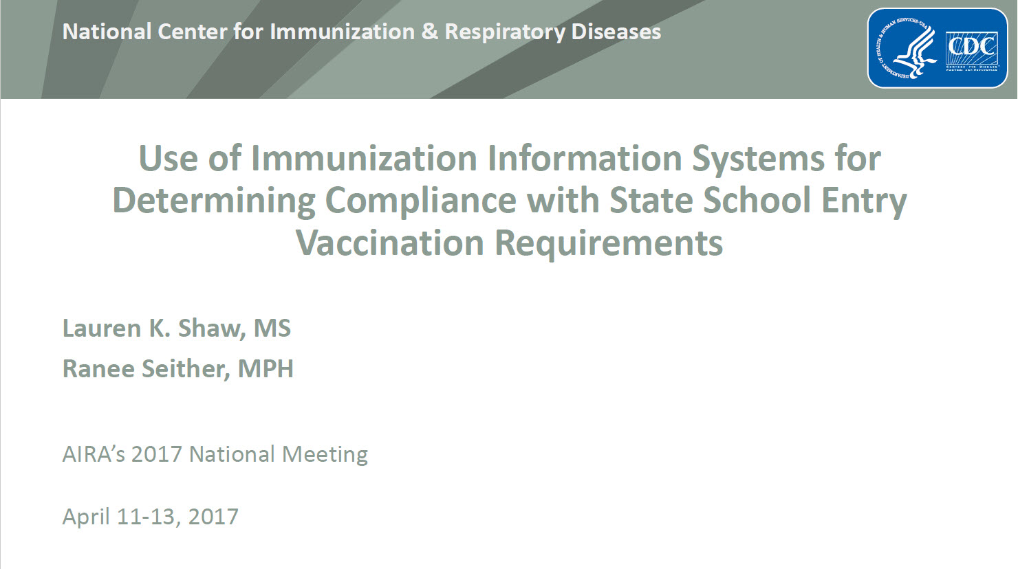 Use of IIS for Determining Compliance with School Vaccination Requirements