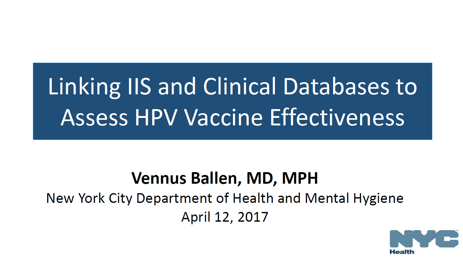 Linking IIS and Clinical Databases to Assess HPV Vaccine Effectiveness
