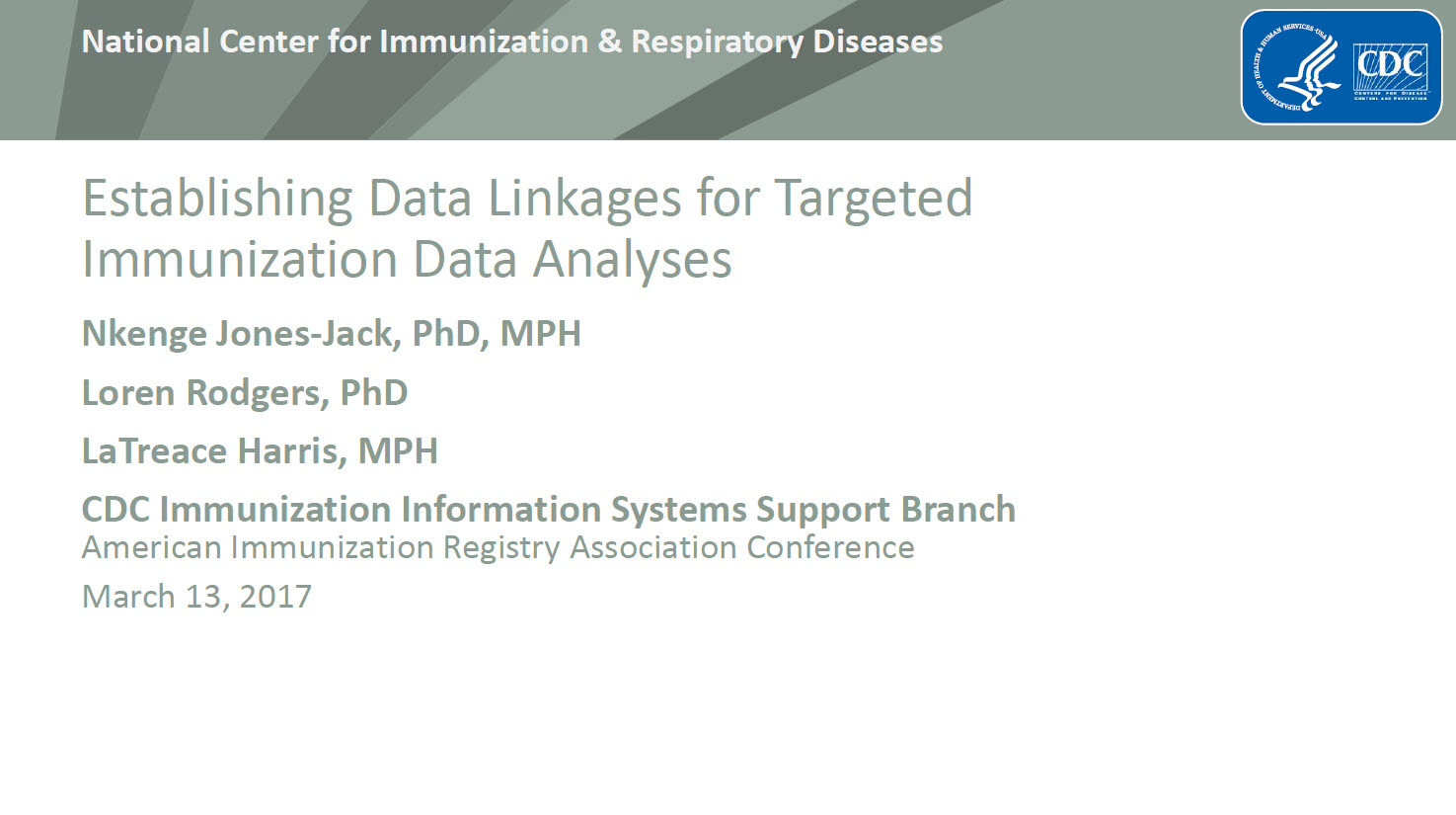 Establishing Data Linkages for Targeted Immunization Data Analyses