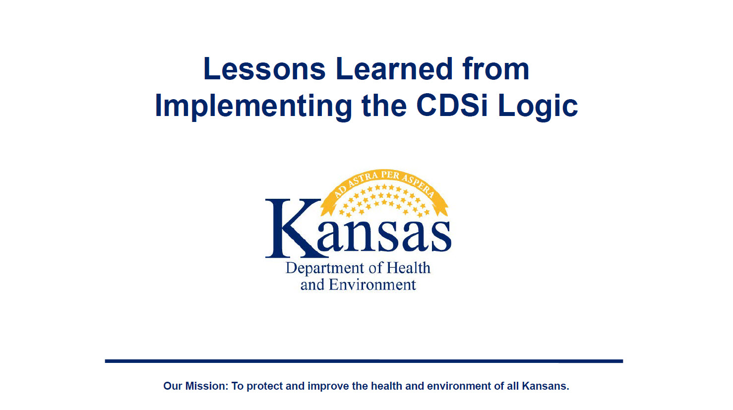 Lessons Learned from Implementing the CDSi Logic