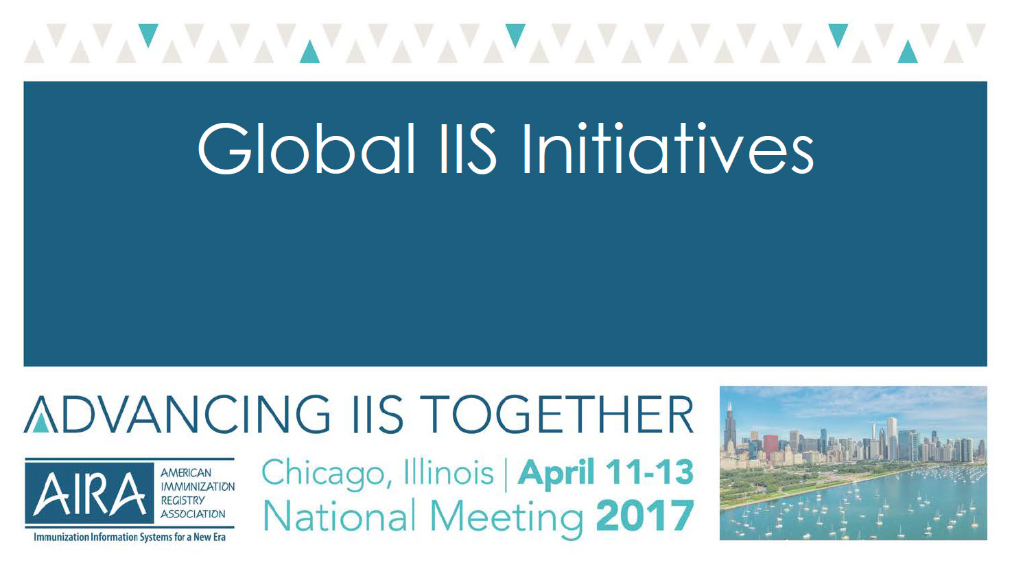 AIRA 2017 Closing Plenary: Global IIS Initiatives