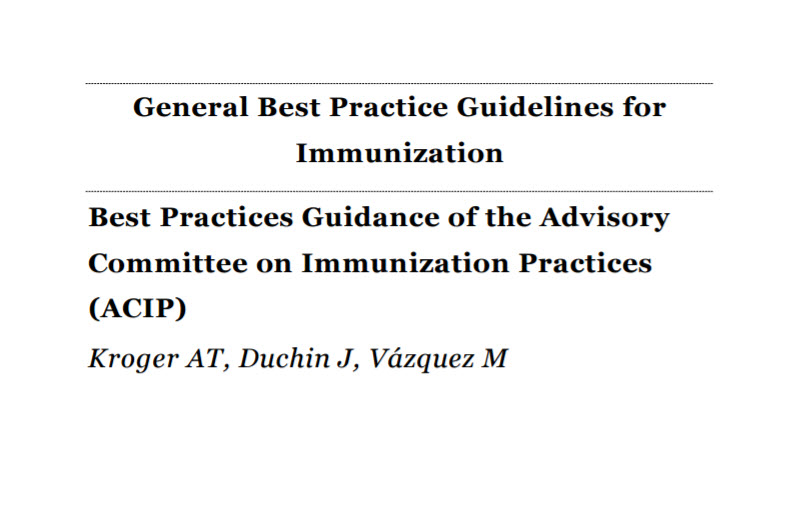 General Best Practice Guidelines for Immunization