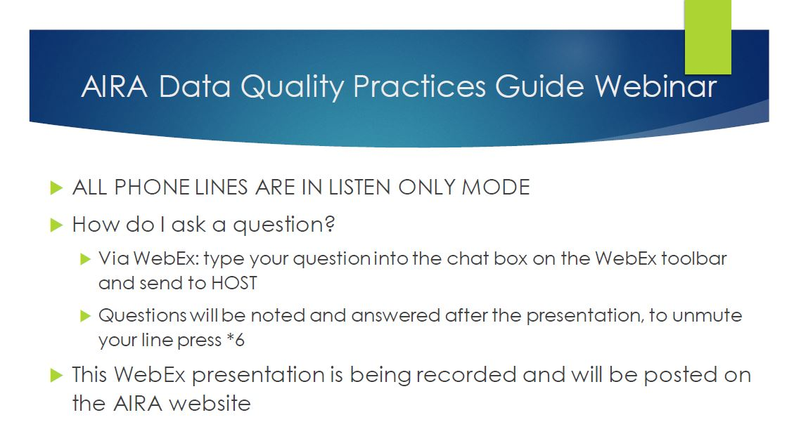 AIRA Data Quality Practices Guide