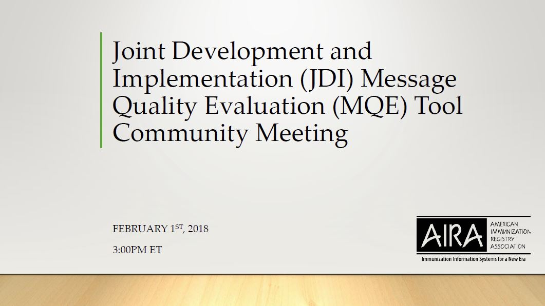 Introduction to the Message Quality Evaluation Tool and Project