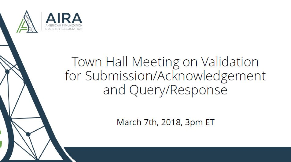 AIRA Town Hall Webinar: Proposed Submission and Query Measures for Validation