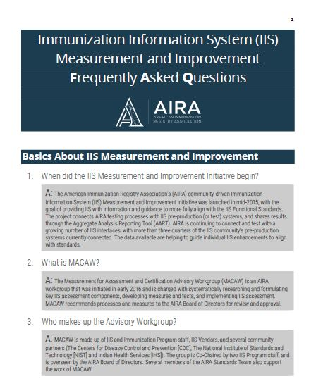 IIS Measurement and Improvement Frequently Asked Questions