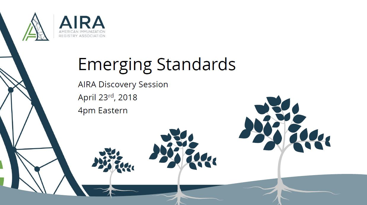 AIRA Discovery Session: Emerging Standards
