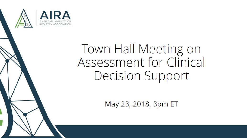 AIRA Town Hall: Proposed Clinical Decision Support Measures for Assessment