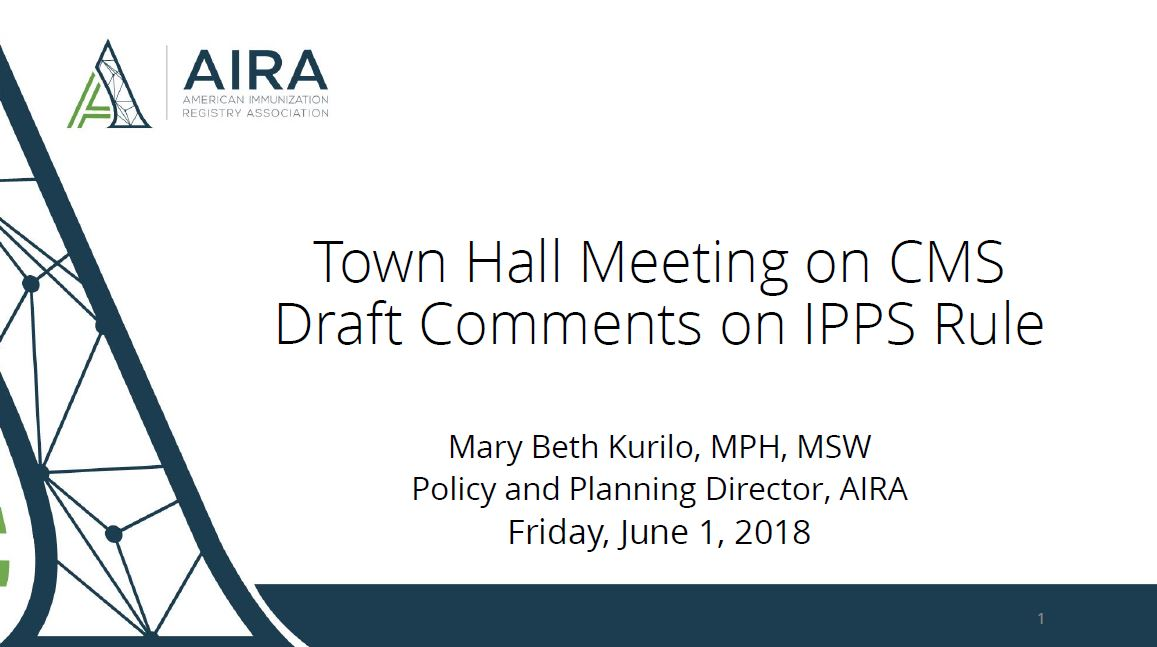 AIRA Town Hall: CMS Promoting Interoperability Proposed Rules