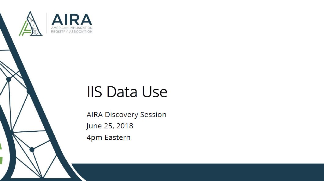 AIRA Discovery Session: IIS Data Use