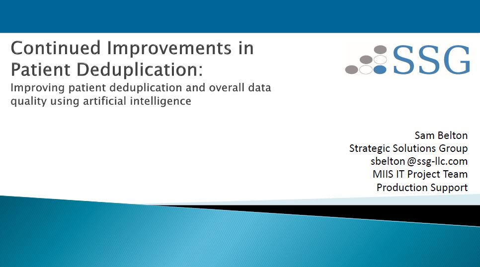 Continued Improvements in Patient Deduplication