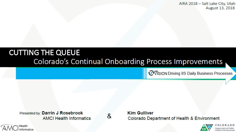 Cutting the Queue: Colorado's Continual Onboarding Process Improvements